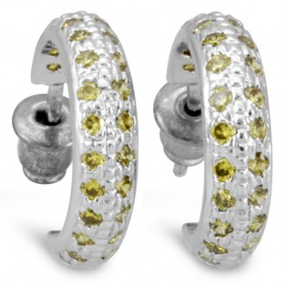 Palace Pierced Leman Swarovski Zirconia Hoop Earrings