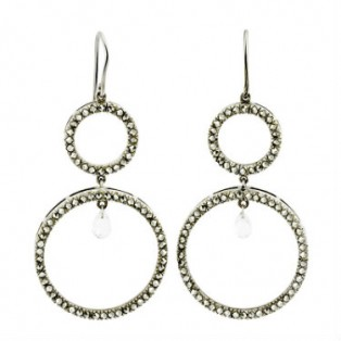 Round Marcasite Earring