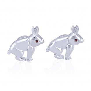 Swarovski Zirconia Rabbit Cufflinks