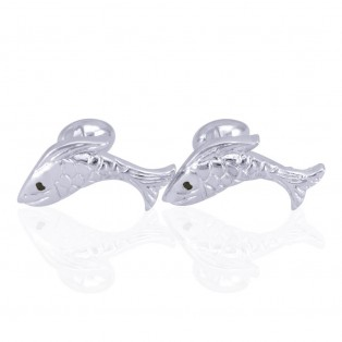 Blue Eye Fish Swarovski Zirconia Cufflinks