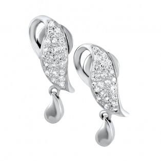 Leaf of Life Swarovski Zirconia Earrings