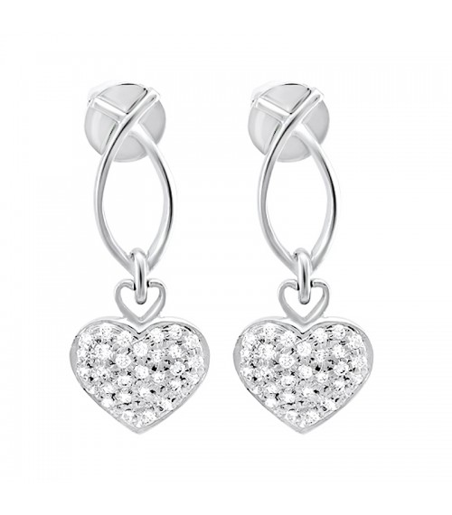 Fusion of Love Sterling Silver Earrings