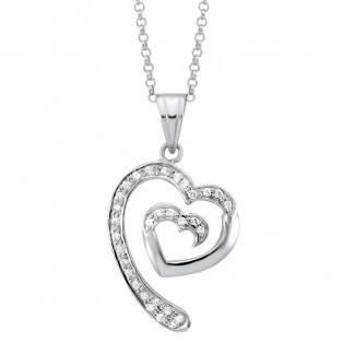 Journey of love Swarovski Zirconia Heart Pendant