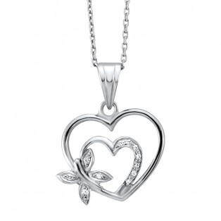 The Joys of Love Swarovski Zirconia Heart Pendant