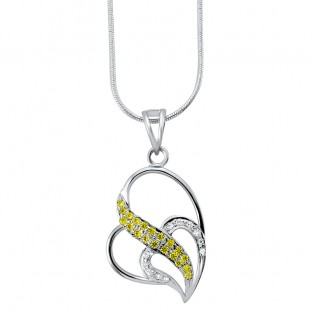 Lemon  Heart Pendant