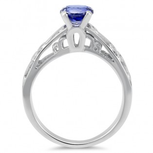 Monisha London Silver Alpinite Blue Ring