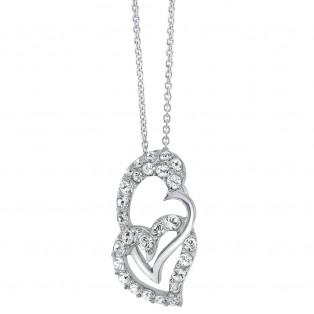Swarovski Elements Love Satin Pendant