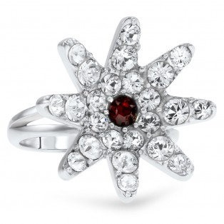 Garnte Swarovski Elements Flower Ring
