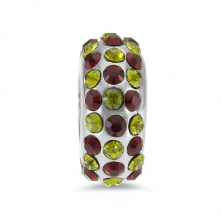 Sweet Indulgence Bead Peridot and Garnet Swarovski Elements