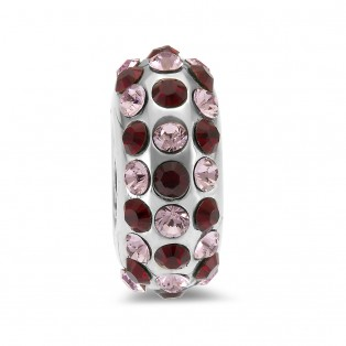 Sweet Indulgence Bead Violet and Garnet Swarovski Elements