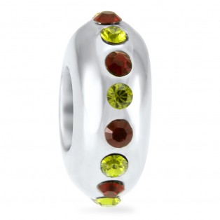 Peridot and Garnet Swarovski Elements Sweet Indulgence Bead