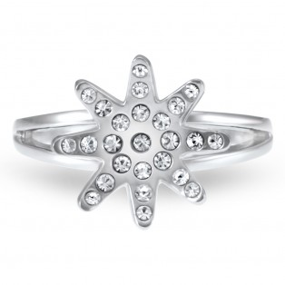 Daisy Flower Swarovski Elements  Ring