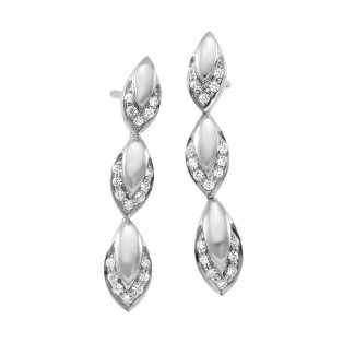 Sterling Silver Joyous Ovals  Earrings