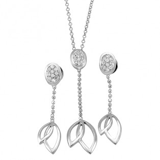 Braided Twin Leafed Sterling Silver Sets