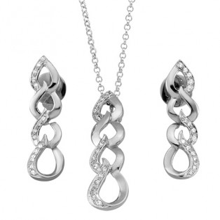 Moving Swirls Sterling Silver Set