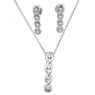 Decorative Swirls Sterling Silver Set