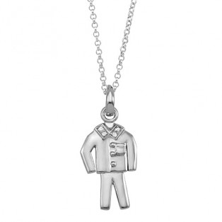 Suits Style Sterling Silver Pendant