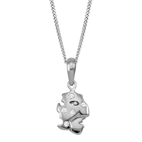 Face Mask Sterling Silver Pendant