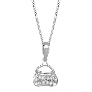 Little Hand Bag Sterling Silver Pendant