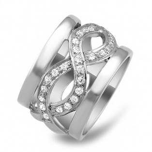 Twist Sparkling Band Swarovski Zirconia Ring