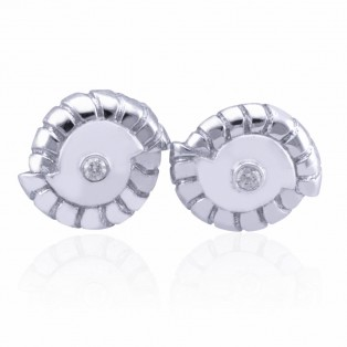 Jujube Seashell Sterling Silver Cufflinks