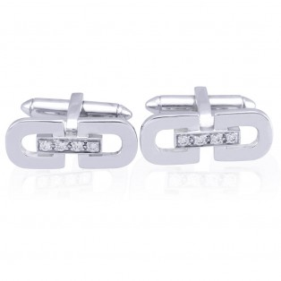 Art Deco Chunky Sterling Silver Cufflinks